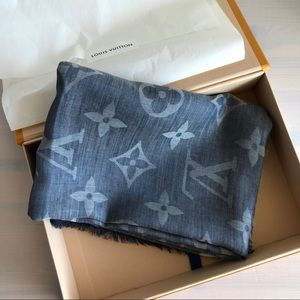 Louis Vuitton Daily Monogram Stole / Scarf - blue